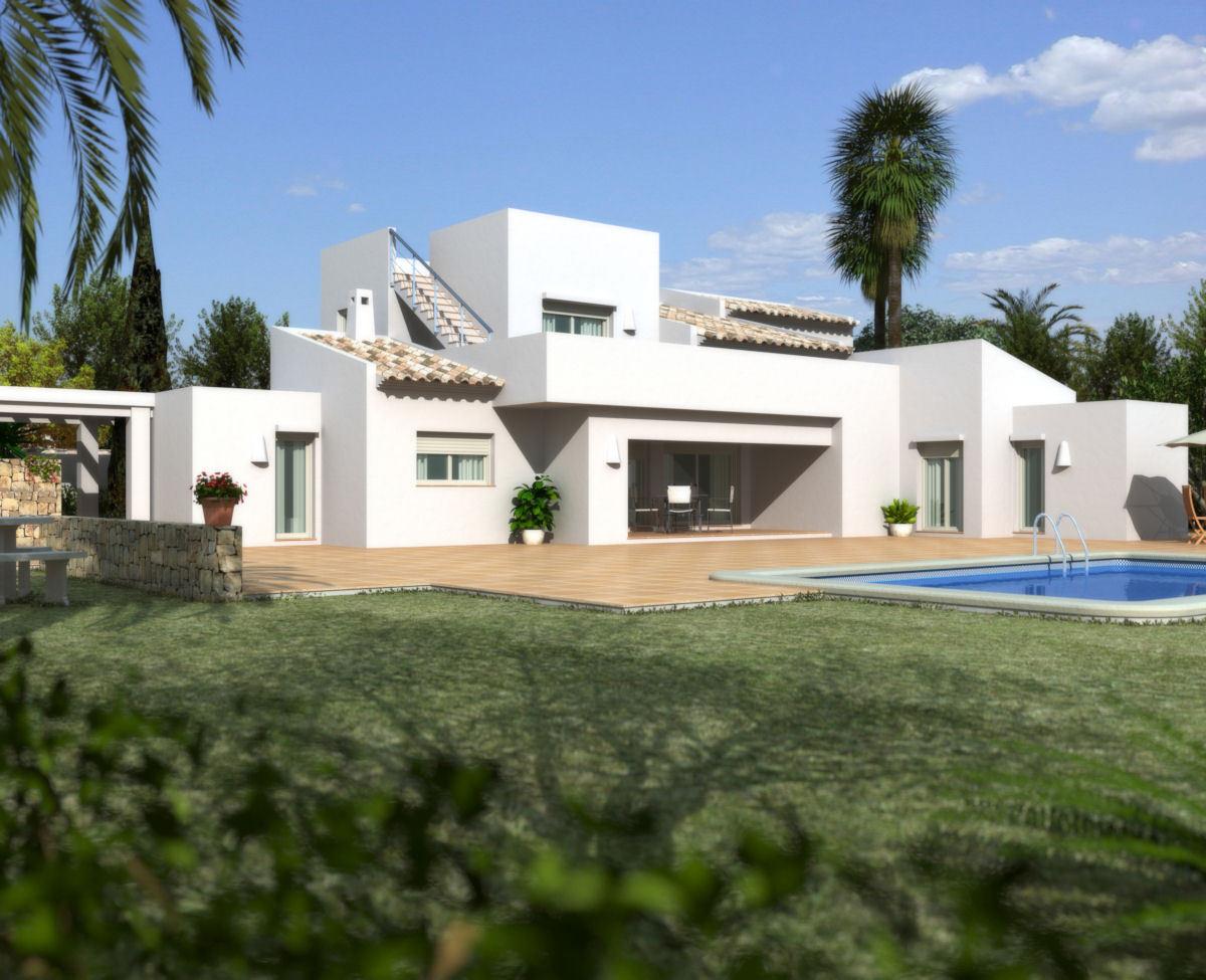 Proyecto de Villa de estilo moderno a la venta en La Cala - Javea - Costa Blanca