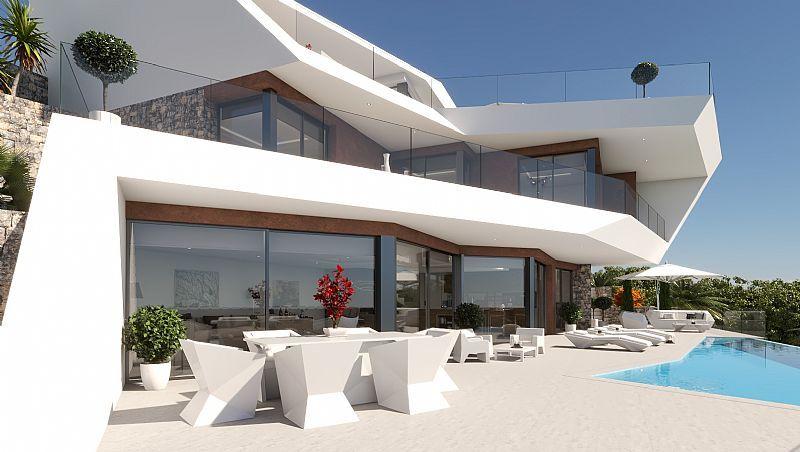Villa de obra nueva en venta en Raco de Galeno con vista al mar - Benissa - Costa Blanca