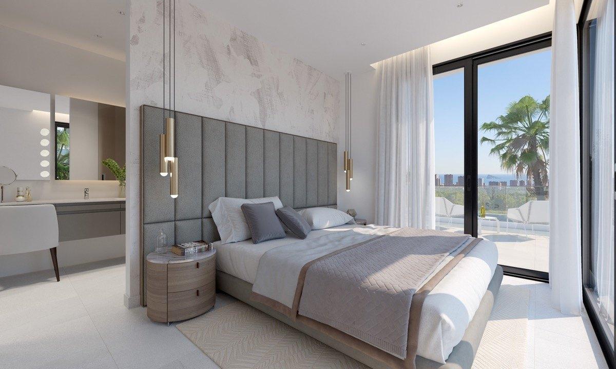 Villa de Obra Nueva de estilo moderno a la venta en Benidorm - Costa Blanca